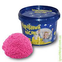 Песок розового цвета в ведре 0,5 кг, ST