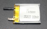 Аккумулятор Молния 110 mAh 3.7V 352025