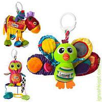 Подвеска на коляску плюш, шурш, погрем, пищалка, 3 вида (сова-с прорез), в кульке