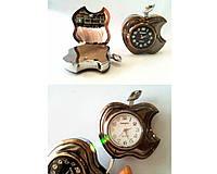 Зажигалка подарочная с часами Apple №3919