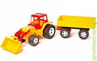 Трактор, ковш, прицеп, BAMSIC