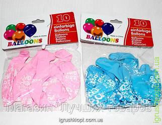 Www Шары надувные с надписью, 10шт в пакете