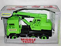 АвтоMiddle truck кран зеленый в коробке, Wader