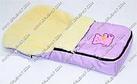 Гр Конверт на овчине 671 (1) цвет сиреневый