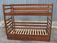 """Кровать двуярусная трансформер """"Засоня"""" орех деревянная, фото 1"""