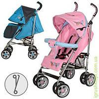 Коляска детская прогулочная, глуб.крыша, чехол, 2цвета (роз-голуб, голуб-серый), колеса 8шт