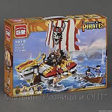 """BRICK 1312 (12) """"Пиратский корабль"""" 464 дет, коробке"""