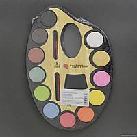 Краски акварельные 01438 (144) 12 цветов, с кисточкой, в кульке