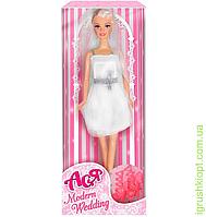 """Кукла Ася """"Модная свадьба"""", блондинка, вариант 1, PS"""