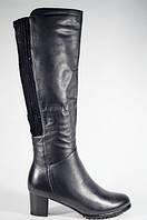 Женские зимние сапоги Magnori на маленьком каблуке