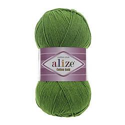 Пряжа Коттон голд Cotton Gold Alize, № 126, зеленый