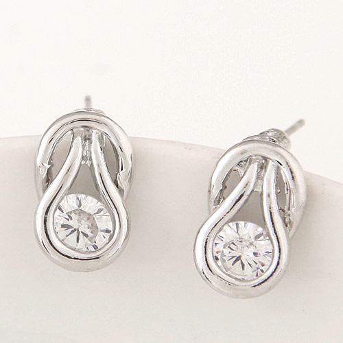 Сережки гвоздики под серебро S003274