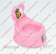 """Гр Горшок детский со съёмной спинкой (10) - цвет розовый """"K-PLAST"""""""
