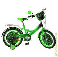 Велосипед детский PROF1 мульт 18д. Matrix, зел-черн, зеркало, звонок