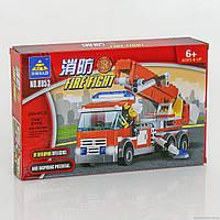 Конструктор 8053 (48/2) Пожарная машина, 244 дет, в коробке