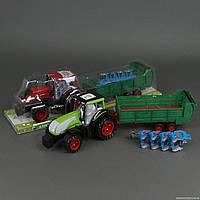 Трактор 0488-159-166 (6) с функциональным прицепом, 2 вида,в слюде