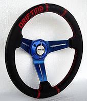 Руль из натуральной кожи Momo-Drifting №593С.