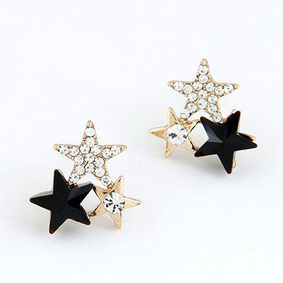 Серьги гвоздики Три звезды S004472