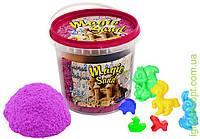 Пісок Magic sand бузкового кольору у відрі 1 кг