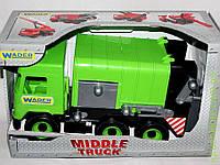 АвтоMiddle truck мусоровоз зеленый в коробке, Wader