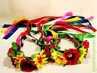 Обруч-Цветы с лентами