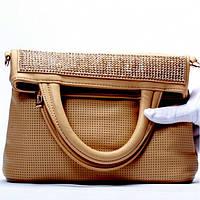Женская сумка - клатч  Gilda Tohetti  темно бежевая
