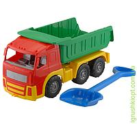 """Машина """"Акрос"""" самосвал №2: автомашина + лопата """"Землеройка"""" большая COLORplast"""