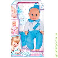 Моя первая кукла, 32см, голубая одежда, 3+, PS