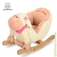 Качалка овечка,размер маленьк,кресло-спинка,муз(рус),в кор-ке