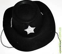 Шляпа ковбоя на веревке, пластик+ткань
