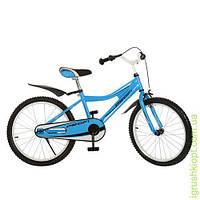 Велосипед PROFI детский 20д. голуб, каретка америк, полная защита цепи