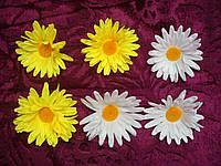 Головка ромашки шелк средняя (только желтая), фото 1