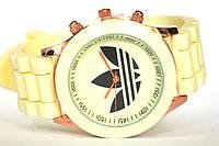 Женские наручные часы Geneva Adidas/бежевые