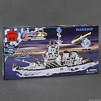 """BRICK 112 (12) """"Военный Корабль"""", 970 дет, в коробке СОБРАННЫЙ"""