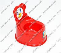 """Гр Горшок детский со съёмной спинкой (10) - цвет темно-красный """"K-PLAST"""""""