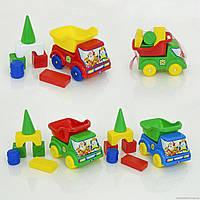 "Гр Машина ""Вольво с кубиками"" (6) 3 вида, в сетке ""ЯБЛОКО"""