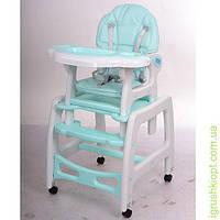 Стульчик для кормления, 2в1 (столик и стульчик), качалка, кол 4шт, оранж-бел