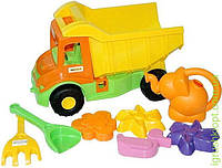 Multi truck грузовик с набором для песка с лейкой 8 эл.
