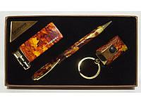 PN3-53 Подарочный набор NOBILIS: зажигалка+ ручка + брелок фонарик, Сувенирный набор, Подарок