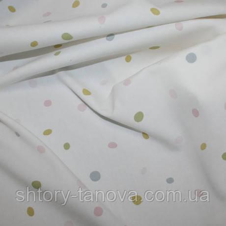 Ткань в горох в детскую комнату