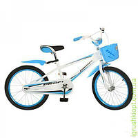 Велосипед PROFI детский 20д. зелен, полная защита цепи,корзина,подножка