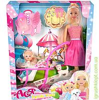 """Набор с куклой Асей """"Семейный досуг"""", блондинка, и мал. куклой 11 см в коляске, PS"""