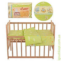 Постельное белье 5 предм (подуш, одеяло, навол, подод, прост), салат.улыб, в кульке