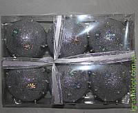 Елочные шарики 8 см 6 шт пенопласт 8738
