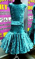 """Платье танцевальное  (бейсик ) """"Вивьен"""" р.134-140(36)(изумрудный)"""