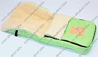 Гр Конверт на овчине 862/ 043 (1) цвет салатовый