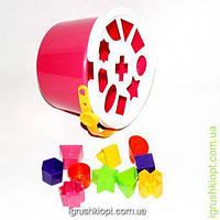 Ведро-логика, 10 геометрических фигурок Kinder Way