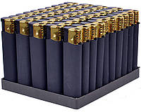 Зажигалка пьезо резина черная №833-1