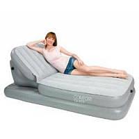 Велюр кровать 67386 Надувная кровать-шезлонг с поднимающейся спинкой 211-104-81см