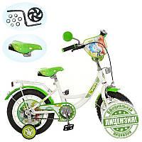 Велосипед детский 16д. FX 0036 ФК, зелено-белый